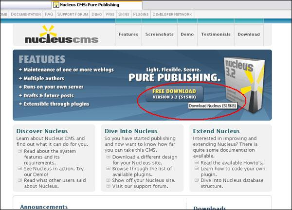 Step 1:  Download Nucleus.